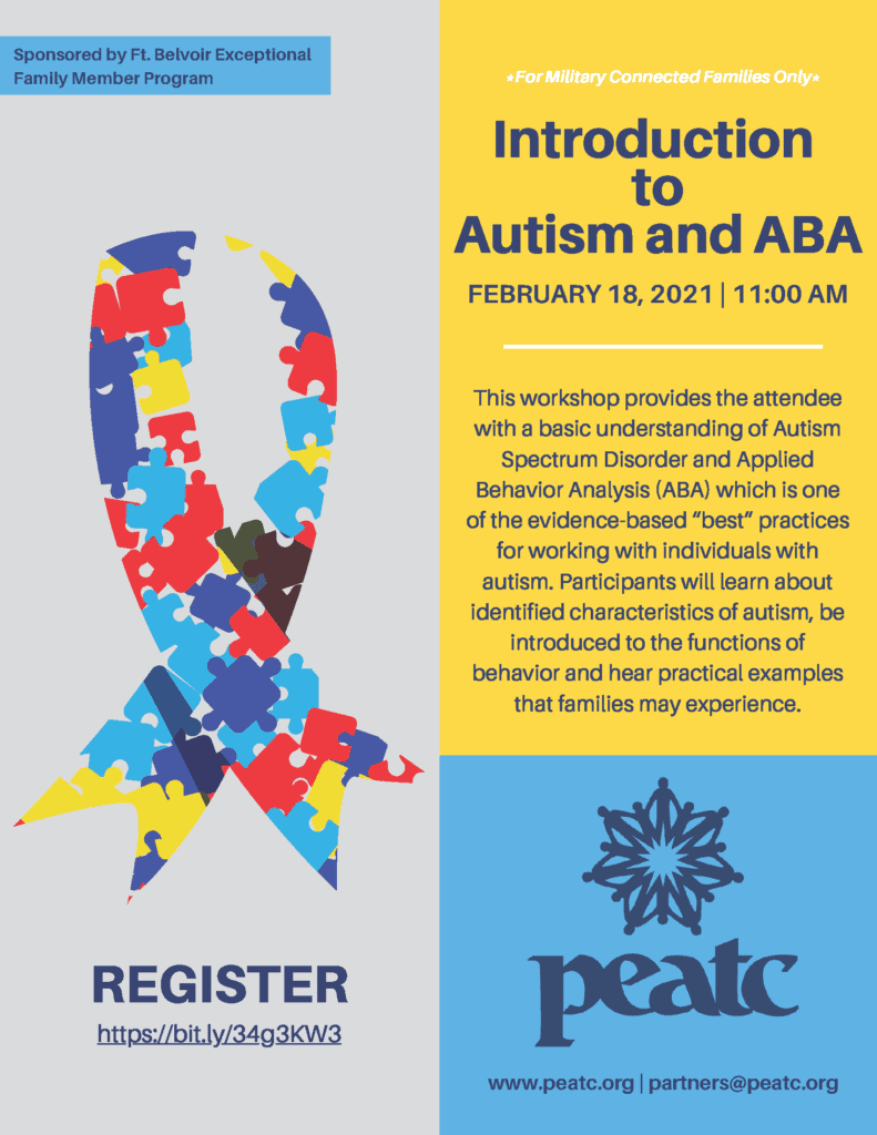 Introduction to Autism and ABA Flyer