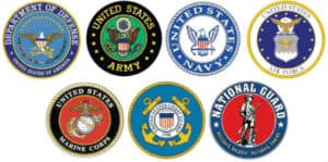 images showing US armed forces logos