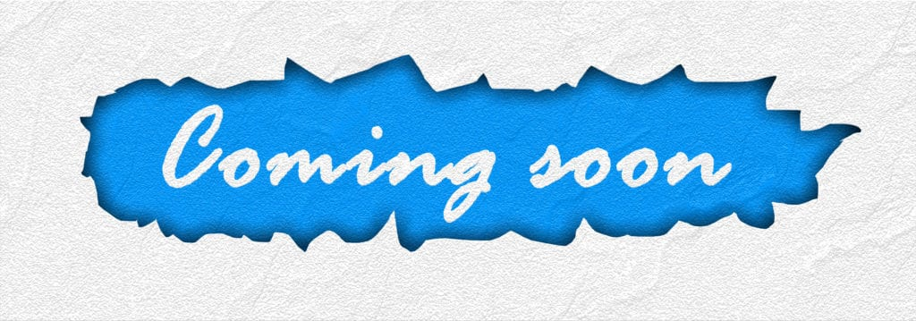 image saying the words Coming Soon
