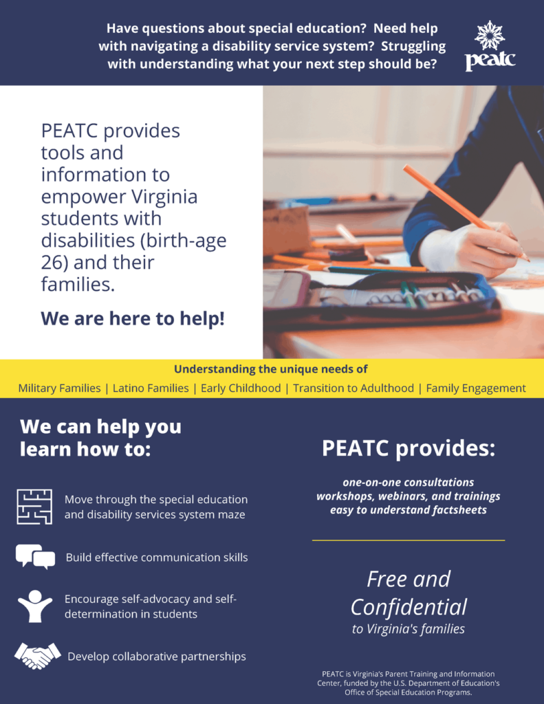 Information Flyer About PEATC